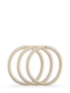 Blonde Snagless Thick Elastics - Pk10