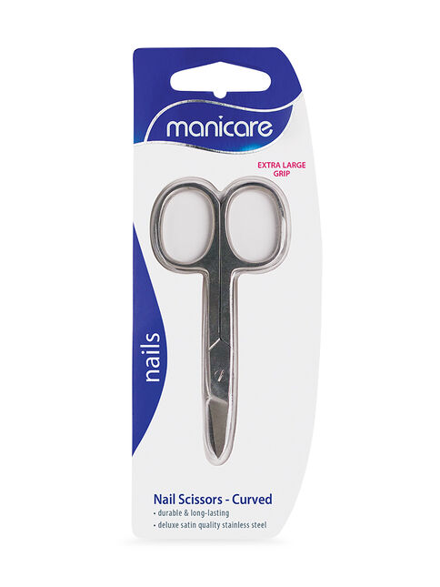 Nail Scissors, Curved, Extra Large Grip