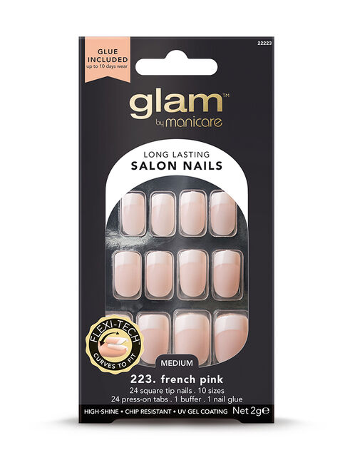 At Home Salon Nail Kit - 223. French Pink Med Square 2g