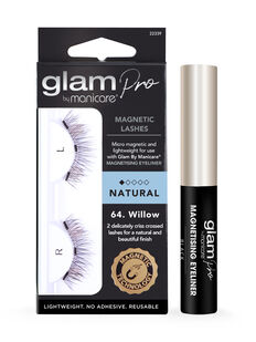 Glam by Manicare® Pro Magnetising Eyeliner & 64. Willow Magnetic Lash Set