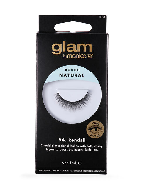 56 Kendall Mink Effect Lashes Glam By Manicare