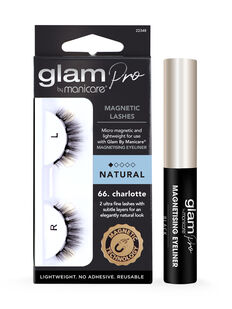 Glam by Manicare® Pro Magnetising Eyeliner & 66. Charlotte Magnetic Lash Set