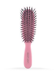Pastel Pink Smooth & Knotless Detangling Brush - Purse-Sized