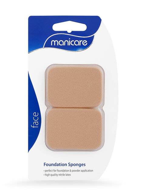 Foundation Sponge, Brown Rectangle Latex, 2 Pack