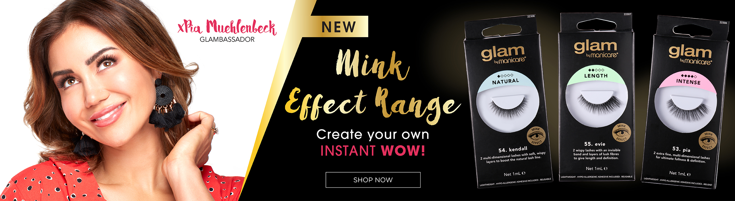 New Mink Effect Range from Glam by Manicare. Create your instant wow!