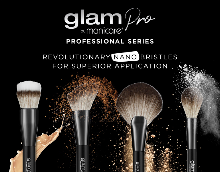 Glam By Manicare® Professional Cosmetic Brush Series - Revolutionary nano bristles for superior application.