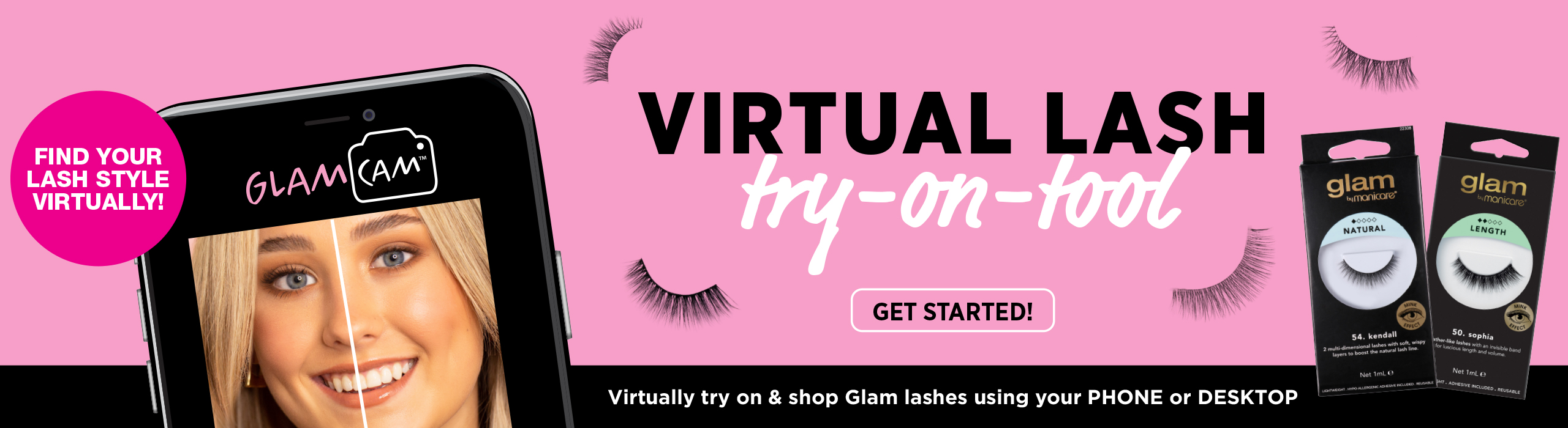 Virtual Lash Try-On-Tool. Find your Glam lash style virtually!